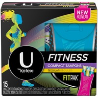 U by Kotex Fitness with FITPAK Regular Absorbency Unscented Tampons