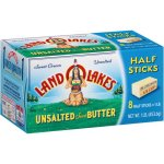 Land O'Lakes Unsalted Sweet Butter Half Sticks, 2 oz, 8 ct