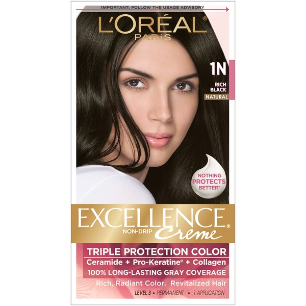 Excellence Creme Triple Protection 1N Natural Rich Black Hair Color