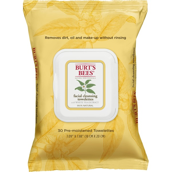 Burt's Bees Natural Skin Essentials Facial Cleansing Towelettes - 30 CT