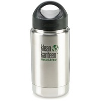 Klean Kanteen Wide Mouth Insulated 12-Ounce Water Bottle With Steel Loop Cap