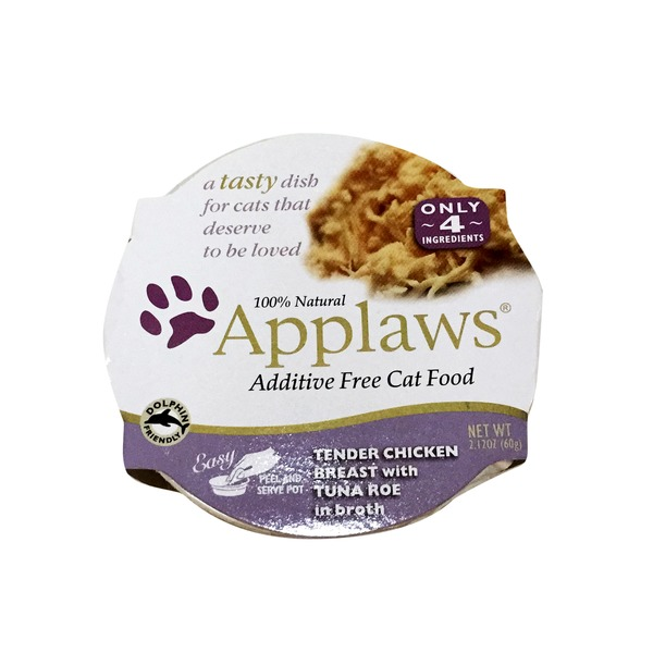 Applaws Tender Chicken Breast With Tuna Roe in Broth Cat Food