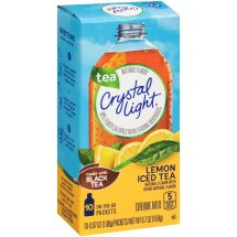 Crystal Light On-The-Go Drink Mix, Lemon Iced Tea, .07 Oz, 10 Packets, 1 Count