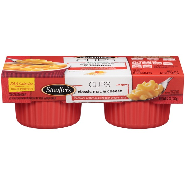 Stouffer's Mac Cups Macaroni in 100% Real Cheddar Cheese Sauce Classic Mac & Cheese