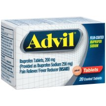 Advil Ibuprofen Pain Reliever/Fever Reducer Tablets, 200 mg, 20 ct