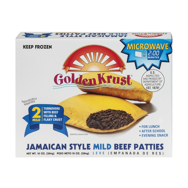 Golden Krust Jamaican Style Mild Beef Patties - 2 CT