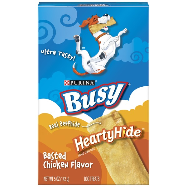 Busy Hearty Hide Basted Chicken Flavor Dog Treats