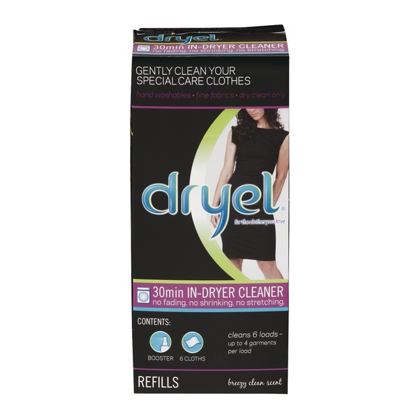 Dryel 30min In-Dryer Cleaner Refills Breezy Clean Scent - 6 CT