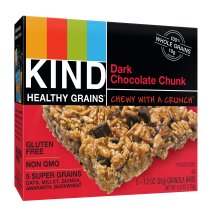KIND Healthy Grains Granola Bar, Dark Chocolate Chunk, 5 Bars, Gluten Free, Healthy Grains Bars