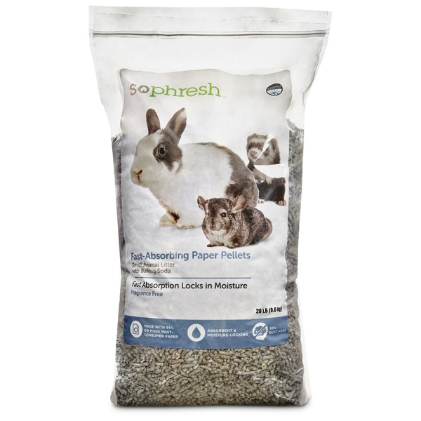 So Phresh Fast-Absorbing Paper Pellets Small Animal Litter With Baking Soda Fragrance Free