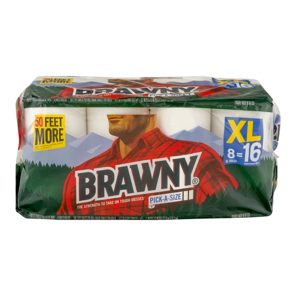 Brawny Paper Towels Pick-A-Size - 8 CT
