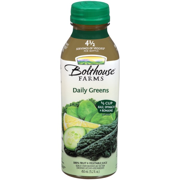 Bolthouse Farms Daily Greens 100% Fruit & Vegetable Juice