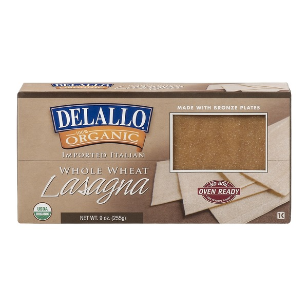 DeLallo Organic Whole Wheat Pasta Lasagna