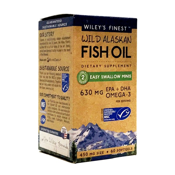 Wiley's Finest Wild Alaksan Fish Oil Easy Swallow 450 mg Minis
