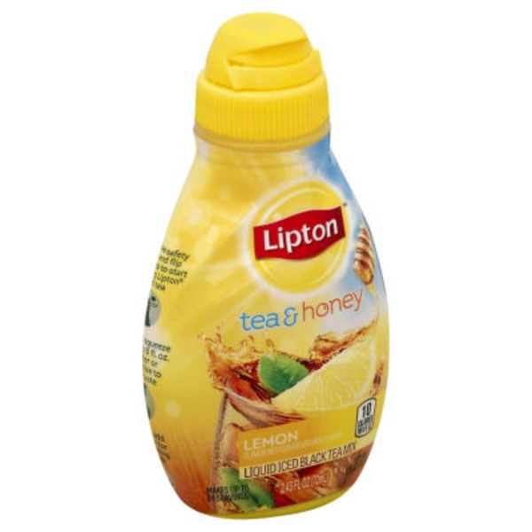 Lipton Lemon Flavor Liquid Iced Black Tea Mix