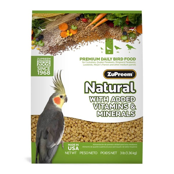 Zu Preem Avian Maintenance Natural Bird Diet For Cockatiels