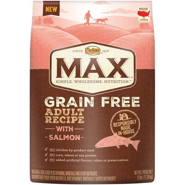 Nutro Max Grain Free Adult Recipe with Salmon Dog Food