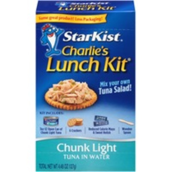 StarKist Chunk Light Tuna In Water Charlie's Lunch Kit Tuna Salad