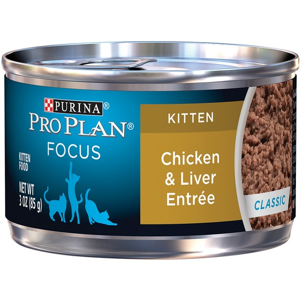 Pro Plan Cat Wet Focus Kitten Chicken & Liver Entree Classic Cat Food