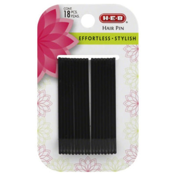 H-E-B Large Black Hair Pins