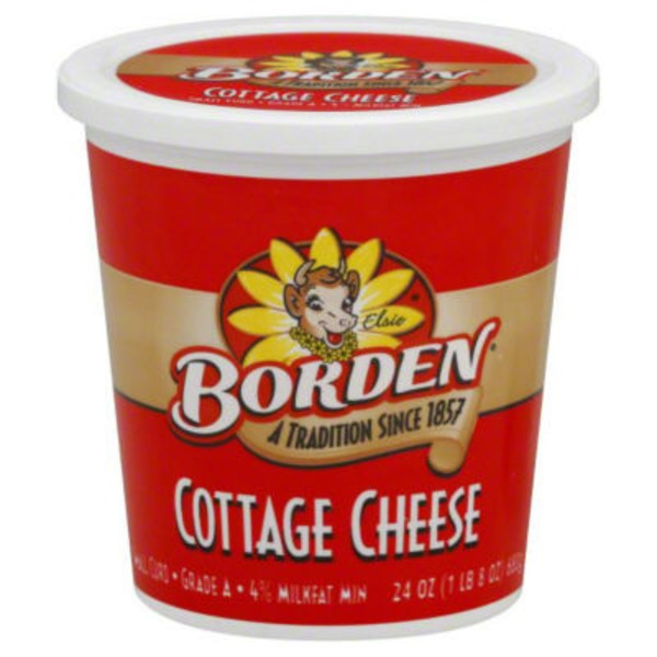 Borden Cottage Cheese Small Curd 4% Milkfat