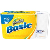 Bounty Basic Basic Bounty Basic Select-A-Size Paper Towels, White, 8 Large Rolls = 10 Regular Rolls Towels/Napkins