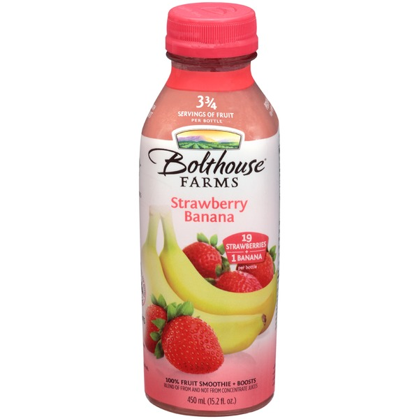 Bolthouse Farms Strawberry Banana 100% Fruit Smoothie + Boosts