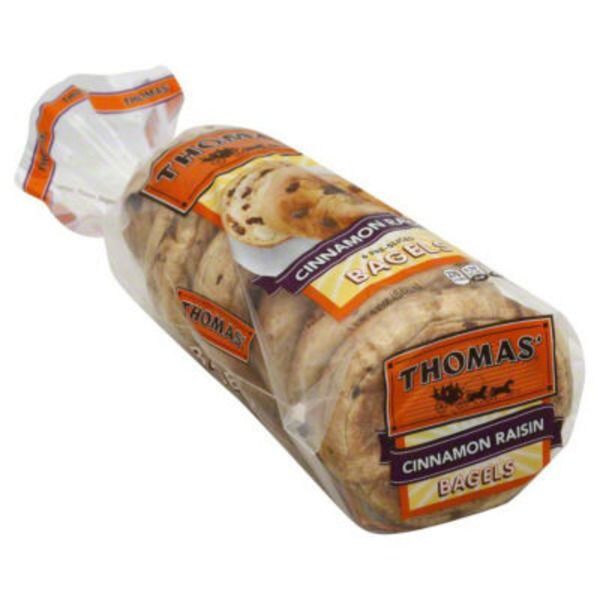 Thomas Bagels Cinnamon Raisin Pre-Sliced - 6 CT