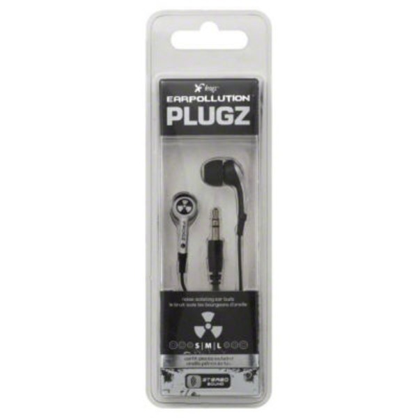 Ifrogz Stereo Ear Buds, Ear Pollution, Plugz, Case