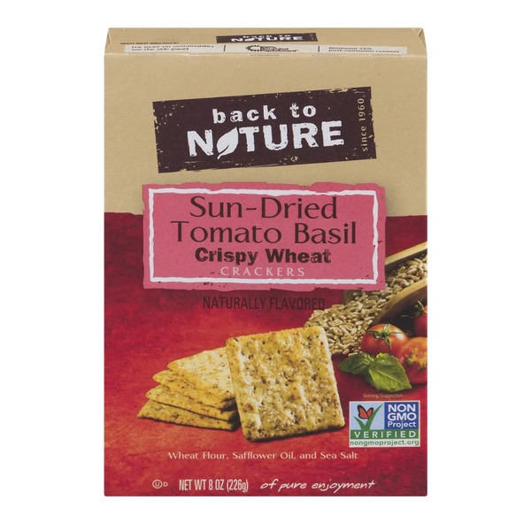 Back to Nature Crispy Wheat Crackers Sun-Dried Tomato Basil