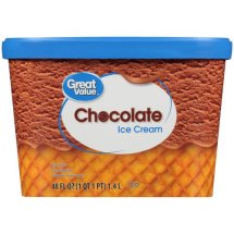 Great Value Chocolate Ice Cream, 48 oz