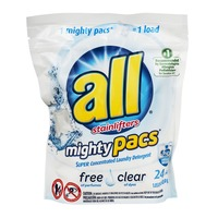 All Mighty Pacs Free Clear Super Concentrated Laundry Detergent