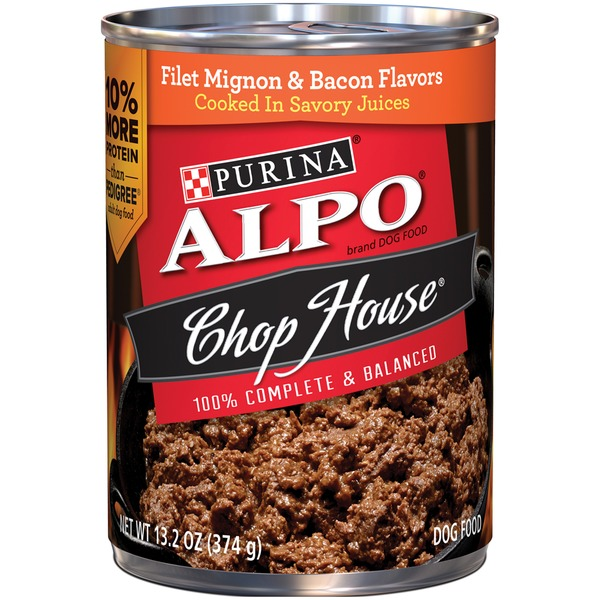 Alpo Wet Chop House Filet Mignon & Bacon Flavors Dog Food