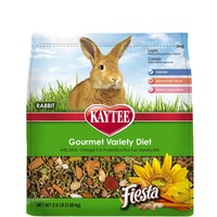Kaytee Gourmet Variety Diet With DHA, Omega-3 & Probiotics Plus Fun Variety Mix Rabbit Food