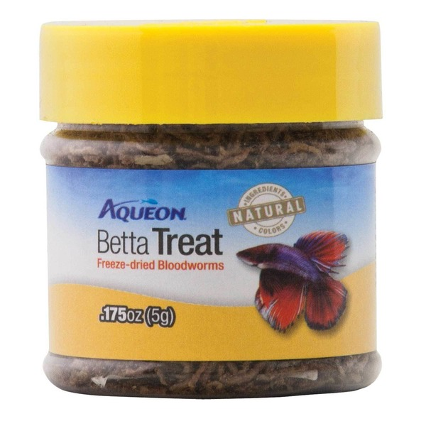 Omega One Aqueon Betta Treat Freeze Dried Blood Worms .