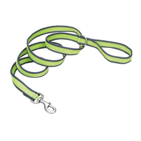 Coastal Pet Pet Attire Pro Bright Green With Grey 3/4 Inch X 6 Feet Leash