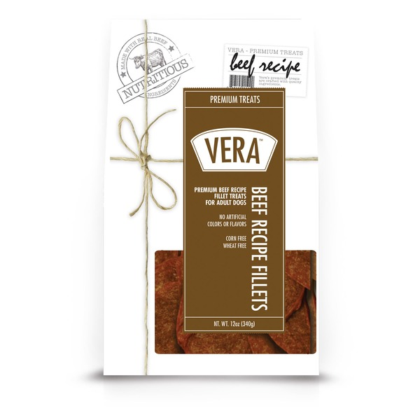Vera Beef Recipe Fillets Adult Dog Treats