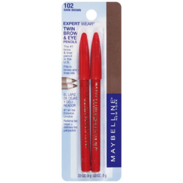 Expert Wear® Dark Brown Twin Brow & Eye Pencils
