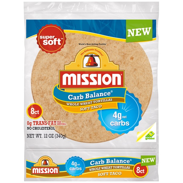 Mission Carb Balance Whole Wheat Soft Shell Tortillas
