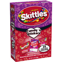 Skittles Original Fun Size Candy 'n Stickers