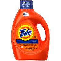 Tide Original Scent HE Turbo Clean Liquid Laundry Detergent, 100 fl oz, 64 loads Laundry
