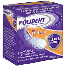 Polident for Partials Antibacterial Denture Cleanser Tablets