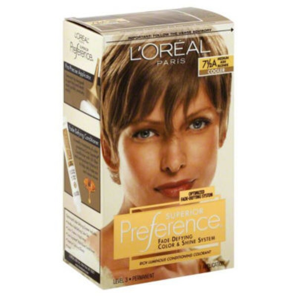 Superior Preference 7-1/2a Cooler Medium Ash Blonde Hair Color
