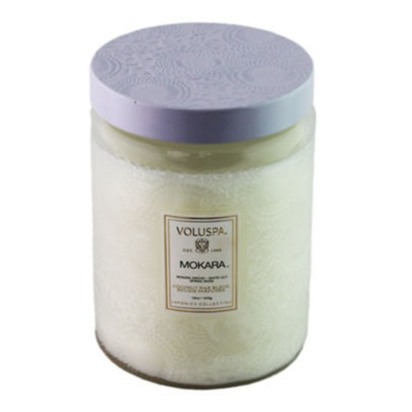 Voluspa Mokara Large Embossed Jar Candle