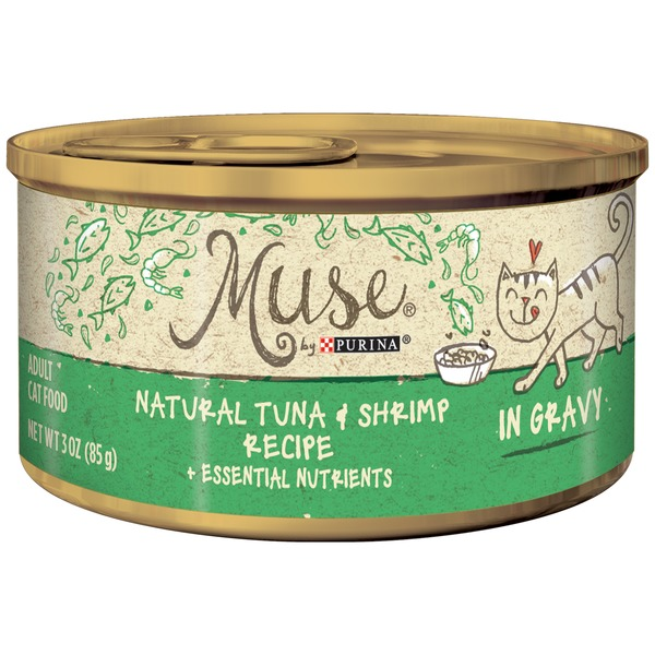 Muse Wet Natural Tuna & Shrimp Recipe in Gravy Cat Food