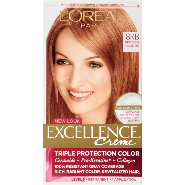 Excellence Creme Triple Protection Color 8RB Reddish Blonde Hair Color
