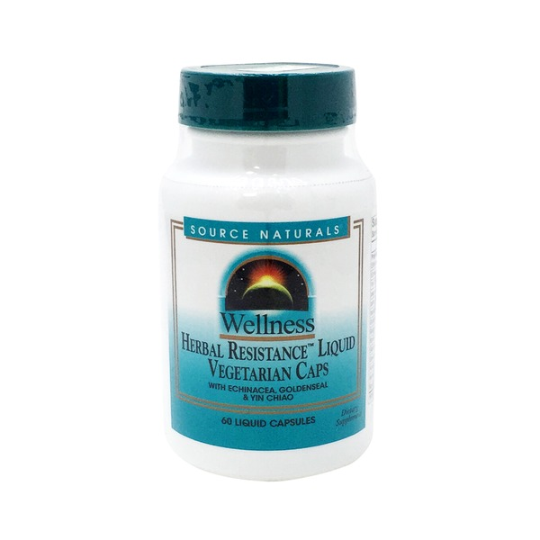 Source Naturals Wellness Herbal Resistance Liquid Vegetarian Capsules