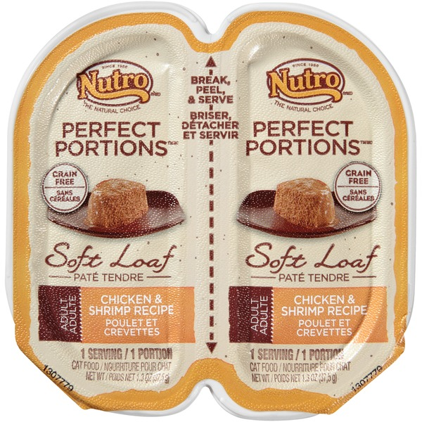 Nutro Perfect Portions Grain Free Chicken & Shrimp Recipe Pate Adult Cat Food
