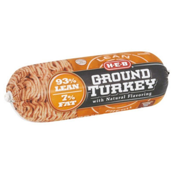 H-E-B 93/7 Lean Ground Turkey