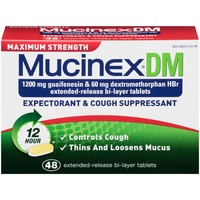 Mucinex Dm 1200 mg Guaifenesin & 60 mg Dextromethorphan HBr Extend-Release Bi-Layer Expectorant & Cough Suppressant